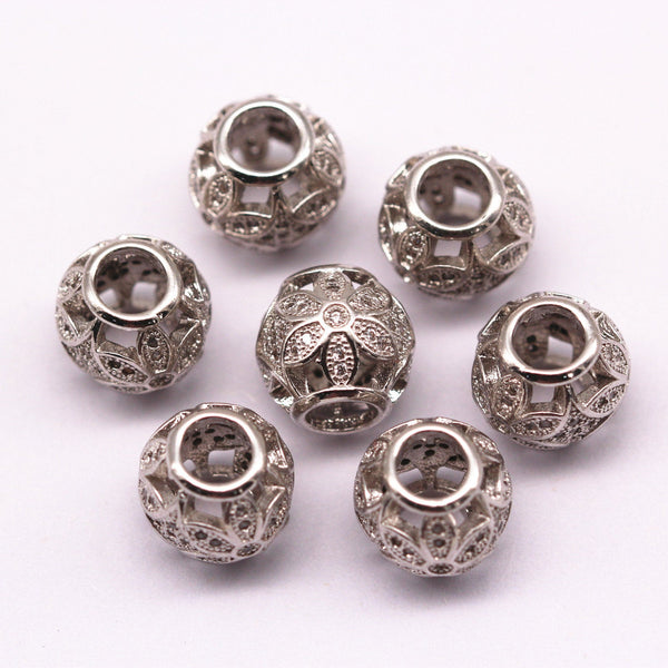silver plated ball shape charm