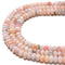 "Pink Opal Hard Cut Faceted Rondelle Beads Size 5x8mm 15.5"" Strand"