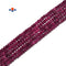 "Natural Ruby Faceted Rondelle Beads Size 1x2mm 15.5"" Strand"