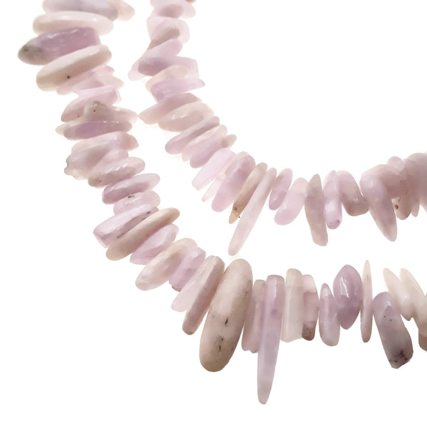 natural kunzite pebble nugget Sticks Points beads