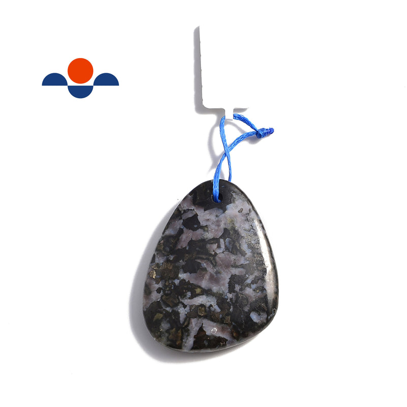 indigo gabbro pendant teardrop or irregular shape