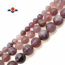 "Natural Lepidolite Smooth Round Beads Size 6mm 8mm 10mm 15.5"" Strand"