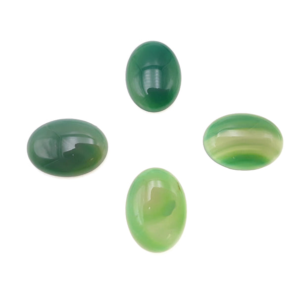 Green Agate Oval Cabochon Size 20x30mm 30x40mm Sold Per Piece