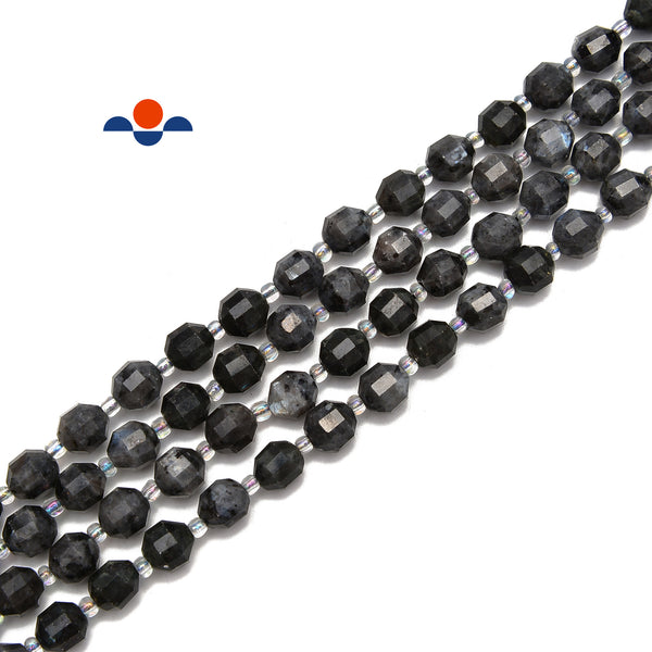 AB Coated Labradorite Smooth Round Beads 6mm 8mm 10mm 15.5 Strand