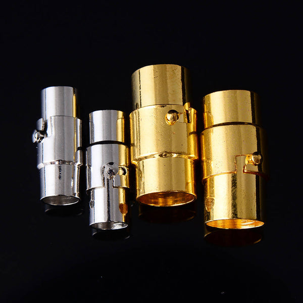 silver gold color plated strong magnetic clasps cylinder shape sale by bag