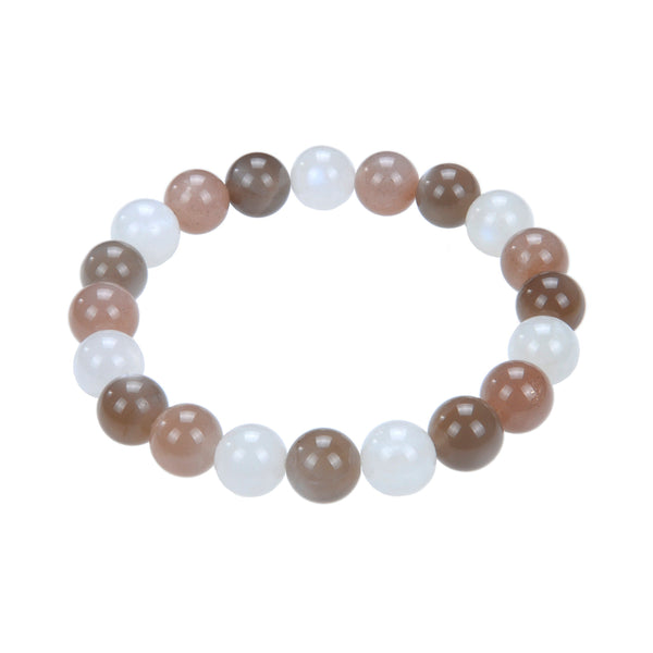 multi color moonstone bracelet smooth round