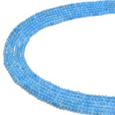 blue dyed jade smooth round beads
