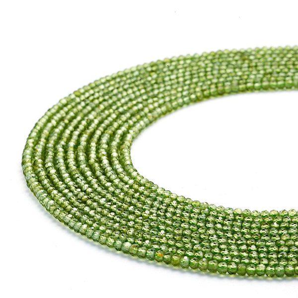natural peridot faceted round beads