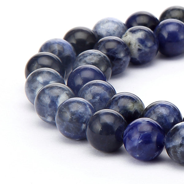 sodalite smooth round beads