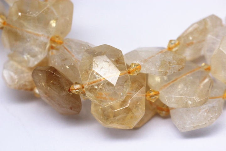 citrine faceted octagon rectangle shape beads