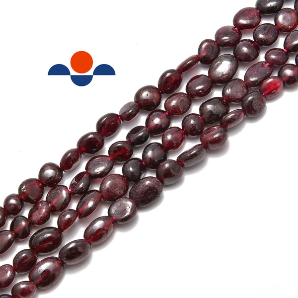 natural garnet pebble nugget beads