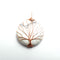 howlite tree pendant copper wire wrap round