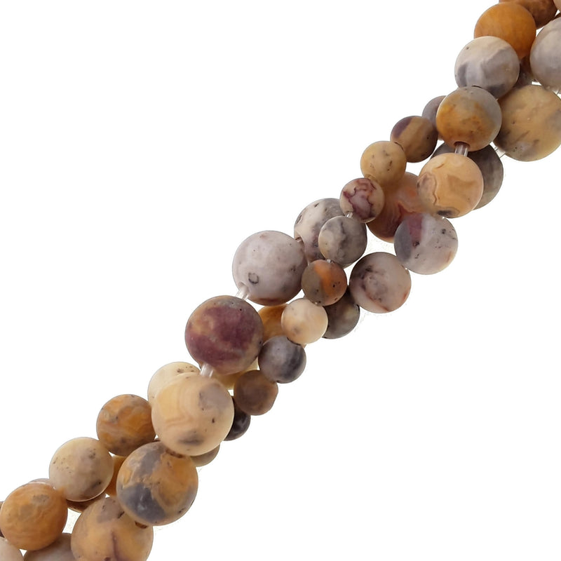 large hole crazy agate matte round beads