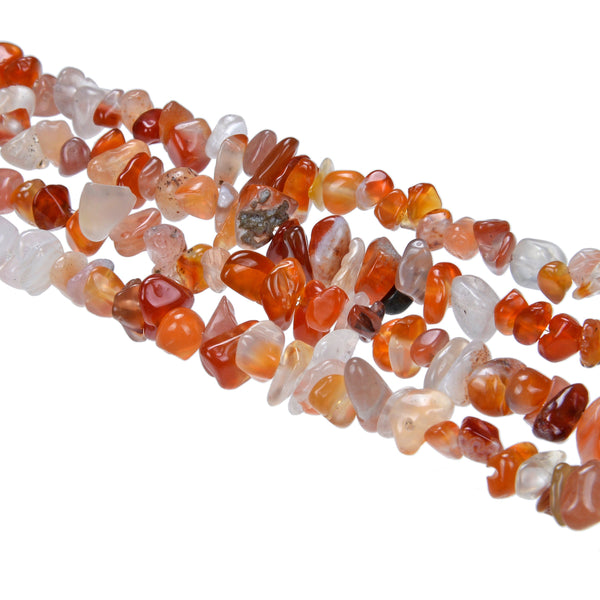 carnelian irregular pebble nugget chips beads