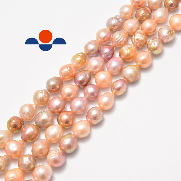 pink coat fresh water pearl baroque fireball beads