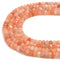 Natural Peach Strawberry Quartz Faceted Rondelle Beads Size 5x8mm 15.5 Strand