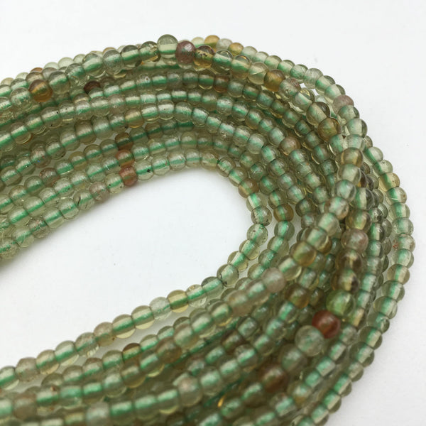natural green garnet smooth irregular round beads