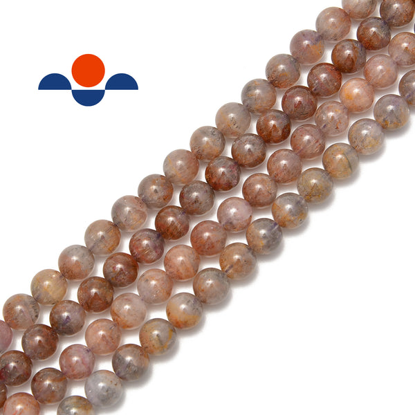 natural auralite cacoxenite beads smooth round