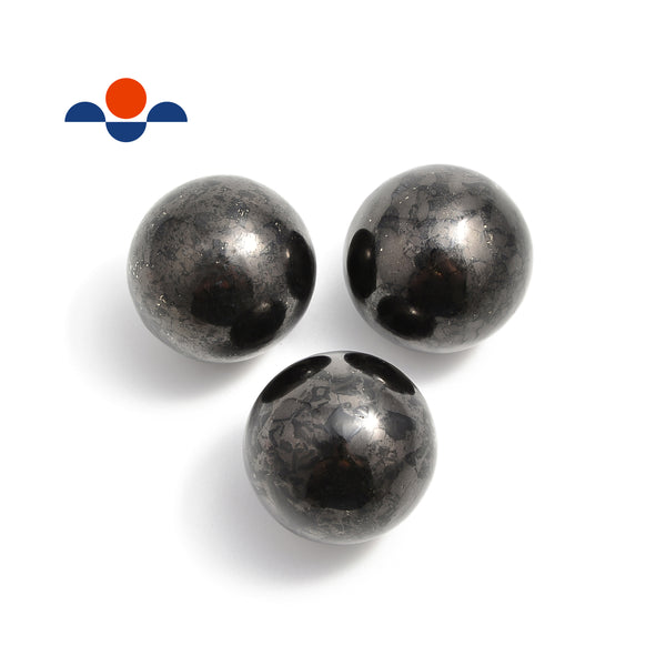 Natural Shungite Polished Sphere Ball EMF Protection Size 40mm Sold Per Piece