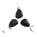 black arfvedsonite pendant teardrop or irregular shape