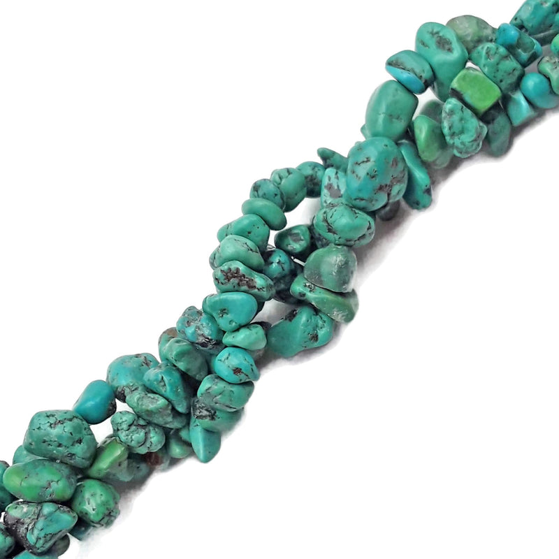 blue green turquoise irregular nugget chips beads