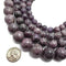 lepidolite smooth round beads