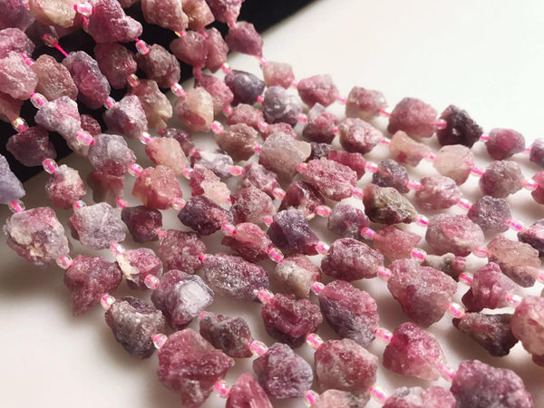 natural tourmaline rough nugget beads