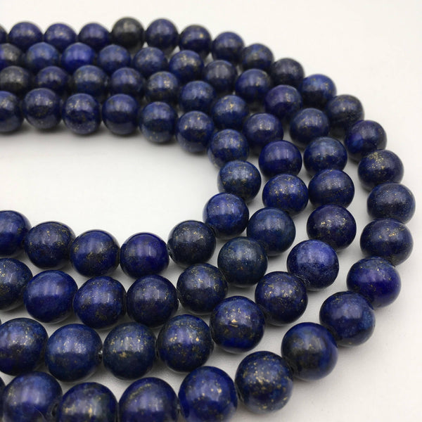 large hole lapis lazuli smooth round beads