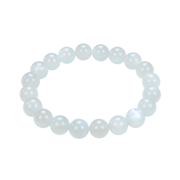 gray moonstone bracelet smooth round