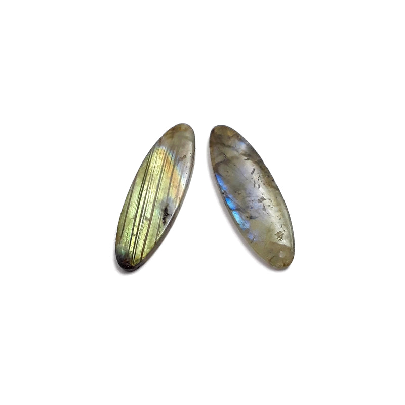 labradorite pendant earrings oval shape