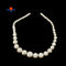 "White Howlite Turquoise Graduated Smooth Round Beads 8-20mm 15.5"" Strand"
