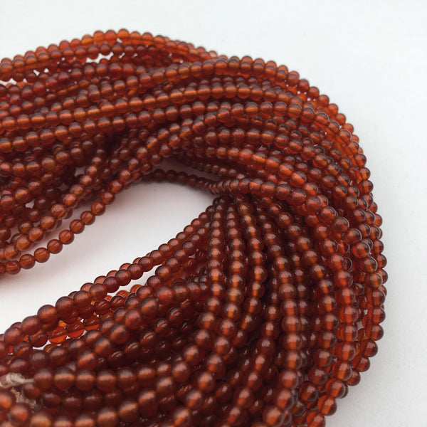 carnelian smooth round gemstone beads