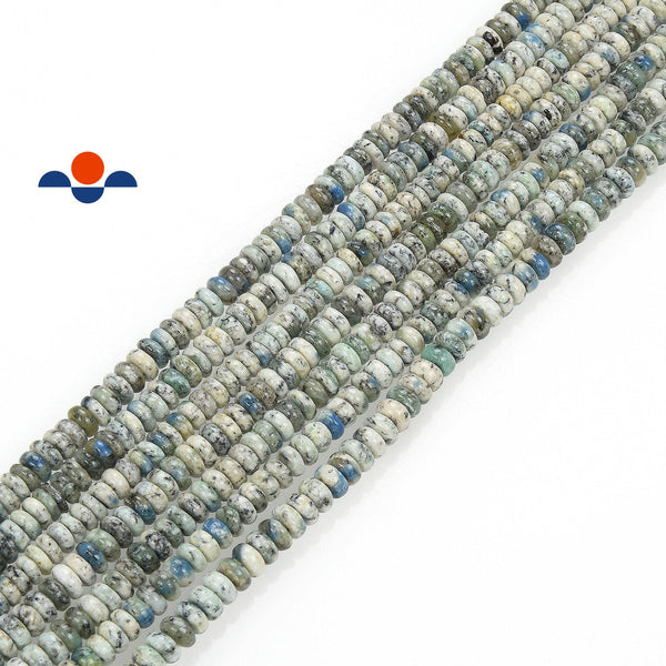 natural k smooth rondelle beads