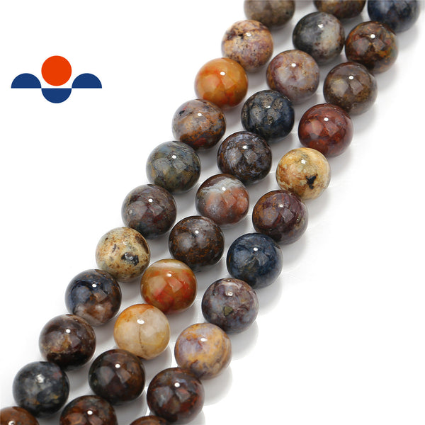 natural pietersite smooth round beads