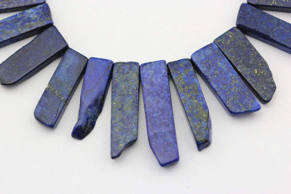 lapis lazuli graduated slice Sticks Points beads