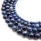natural sodalite smooth round beads