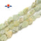 "Prehnite Rough Nugget Chunks Side Drill Beads Approx 7x12mm 15.5"" Strand"