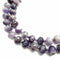 amethyst large faceted rondelle loose beads