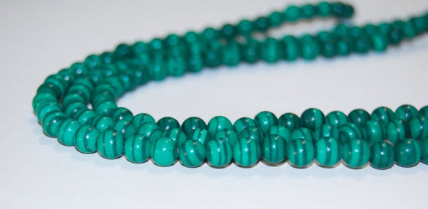 synthetic malachite smooth round beads