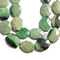 Green Garnet Rectangle Slice Faceted Octagon Beads 18x25mm 20x30mm 15.5'' Strand