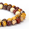 "2.0mm Hole Mookaite Jasper Smooth Round Beads 6mm 8mm 10mm 15.5"" Strand"