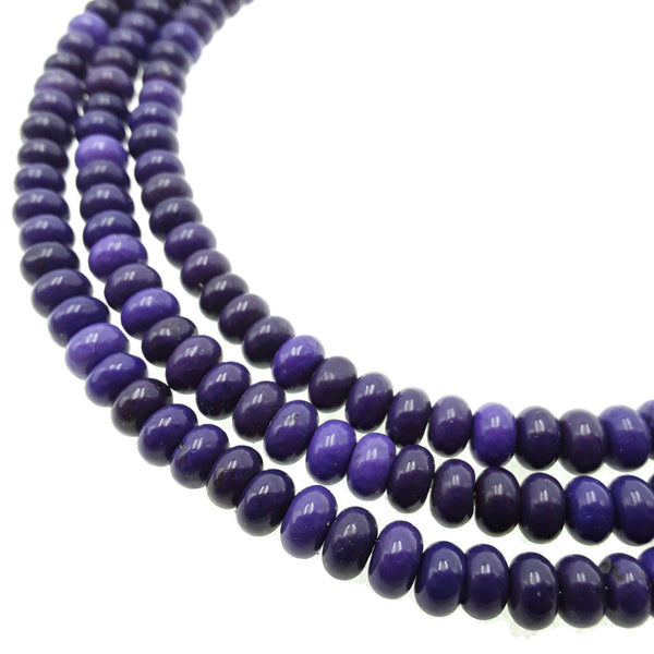 purple magnesite turquoise smooth rondelle