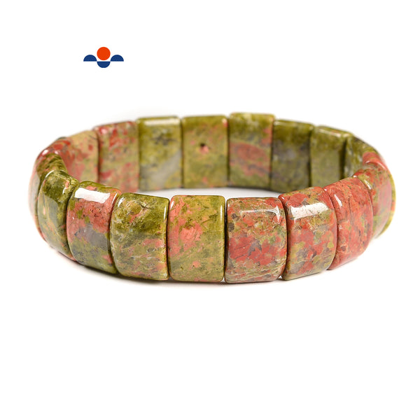 Unakite Double Drill Bracelet Beads Size Approx 11x15mm Length 7.5""