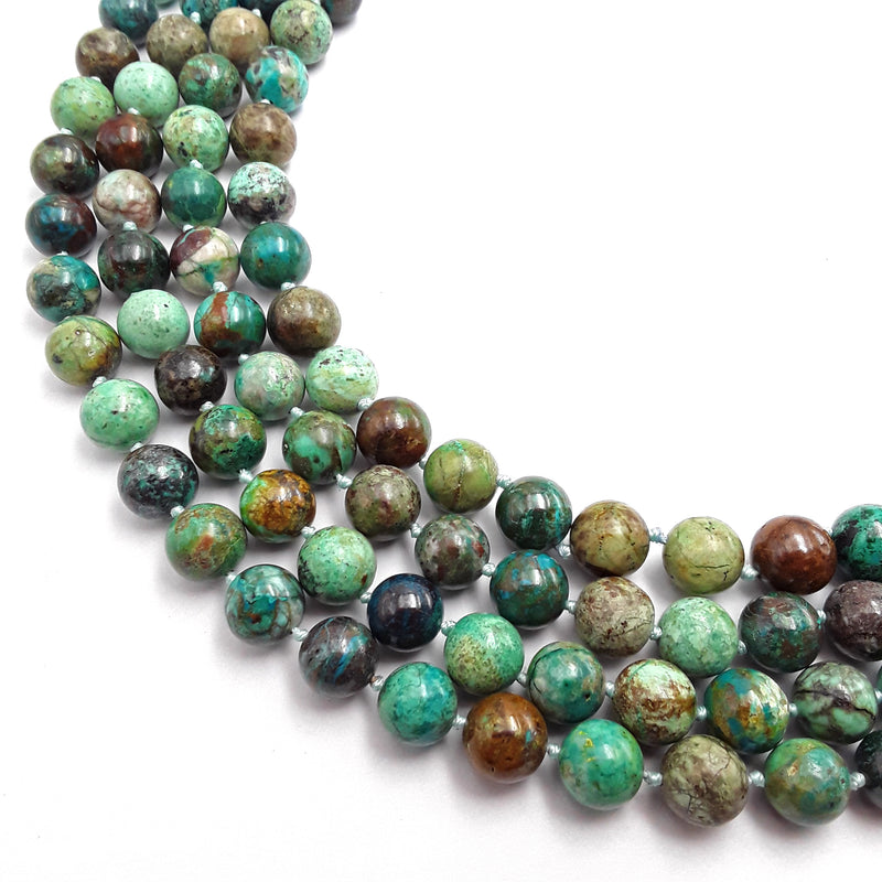 natural chrysocolla shattuckite smooth round beads