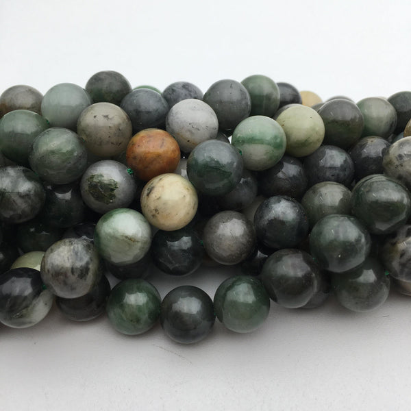 chinese sinkiang jade smooth round beads