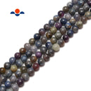 multi color sapphire smooth round loose beads