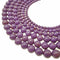 purple phosphosiderite smooth round beads