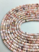 natural pink opal faceted rondelle beads