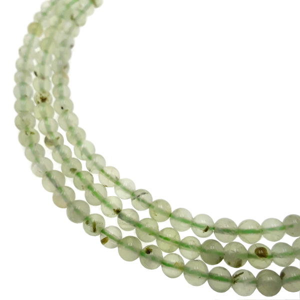 natural prehnite smooth round beads