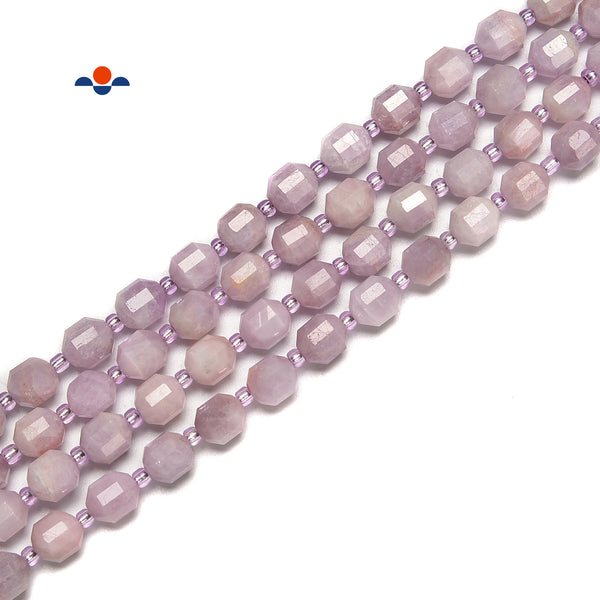 Natural Kunzite Faceted Off Round Beads Size 8mm 10mm 15.5'' Strand